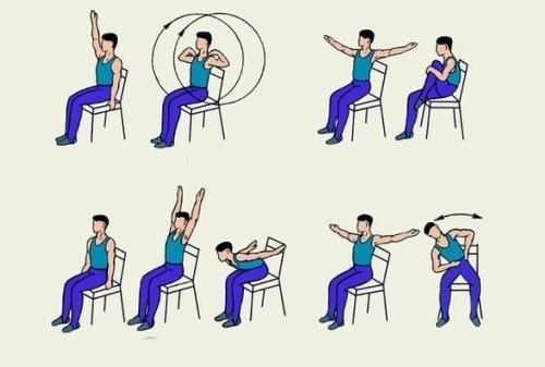 Упражнения на стуле при плечелопаточном периартрите