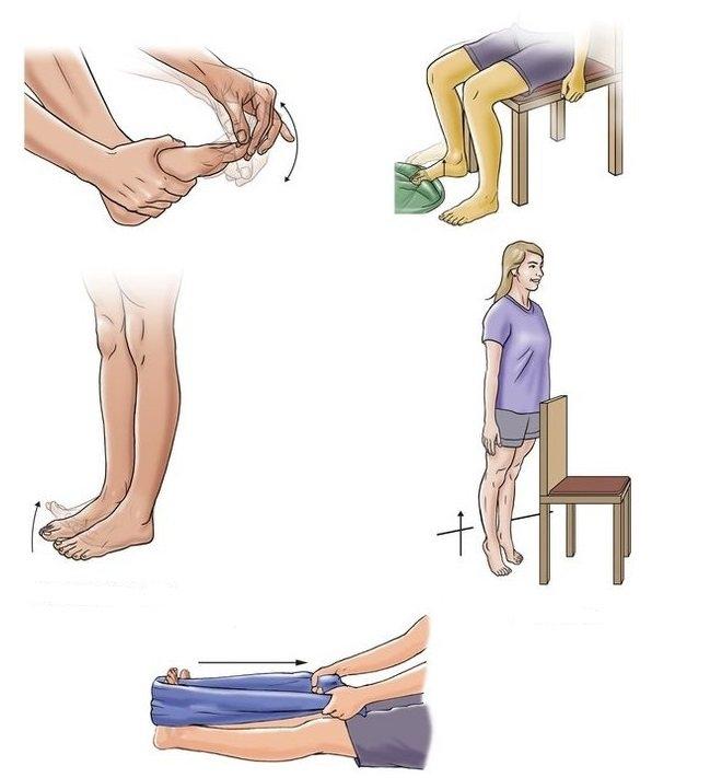 Упражнения для восстановления пальцев ног