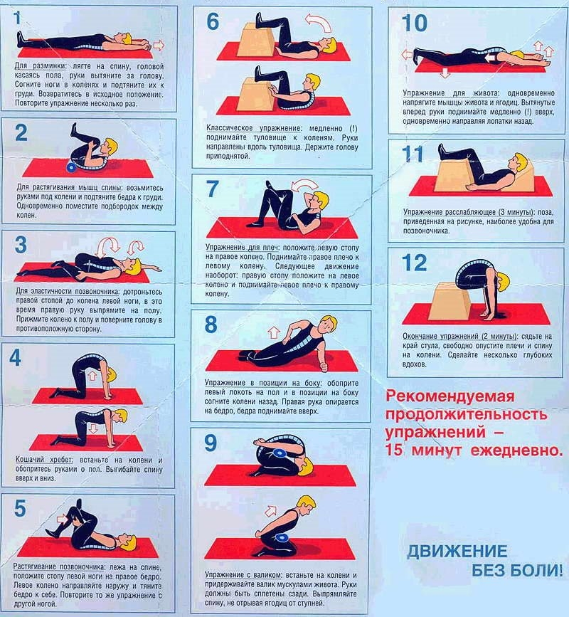 Лечебная гимнастика при хондрозе