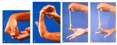Упражнения при растяжении пальца