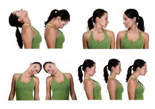 Некоторые упражнения для шеи