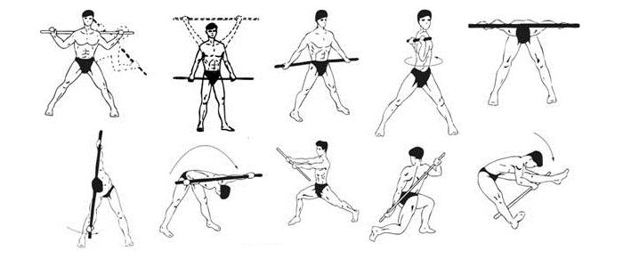 Упражнения с палкой для осанки