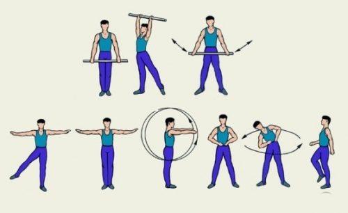 Упражнения стоя при плечелопаточном периартрите