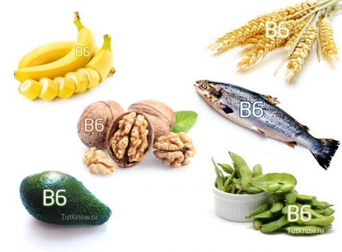 Богатые витамином B6 продукты